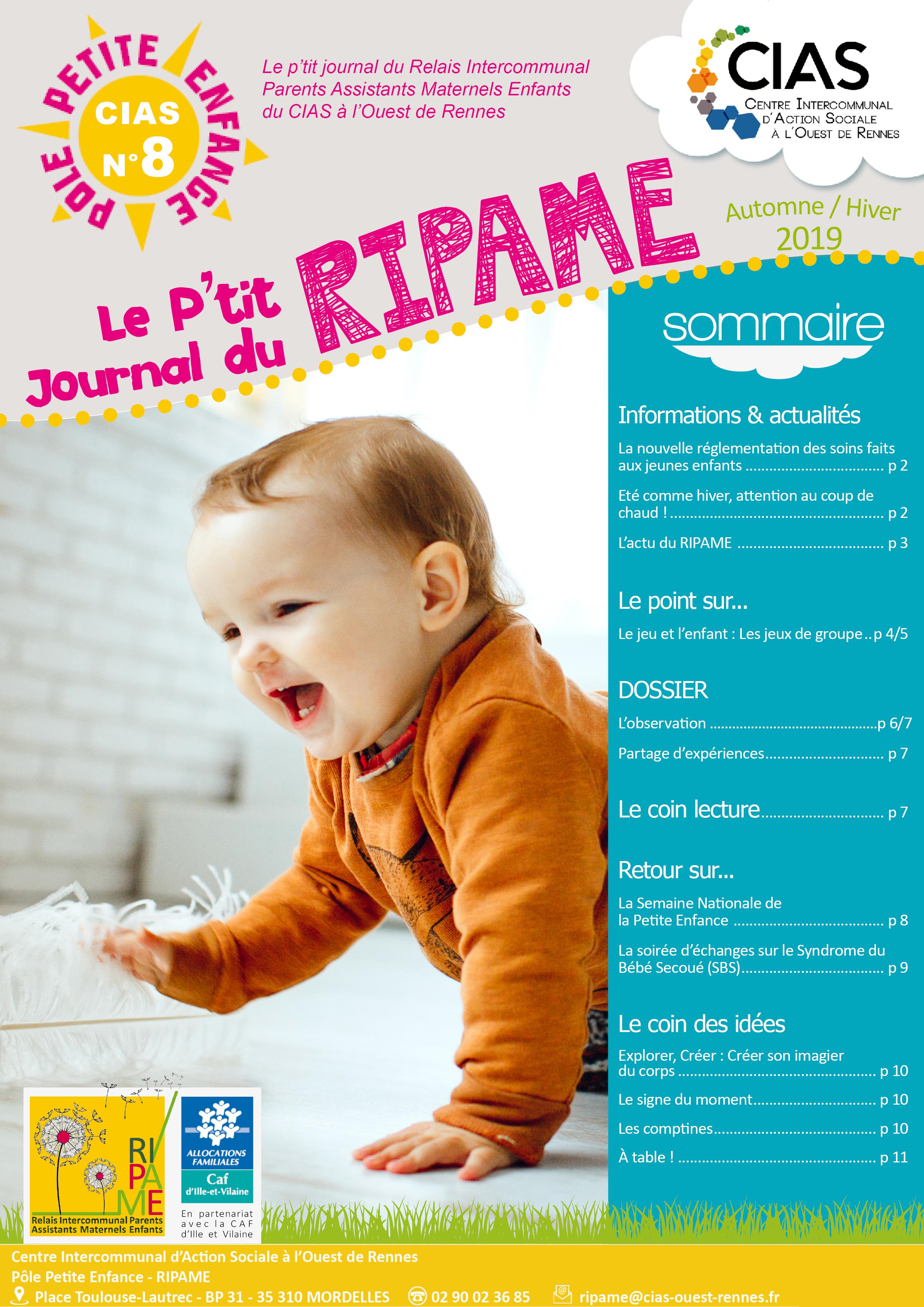 P'tit journal du RIPAME n°8 CIAS Ouest Rennes