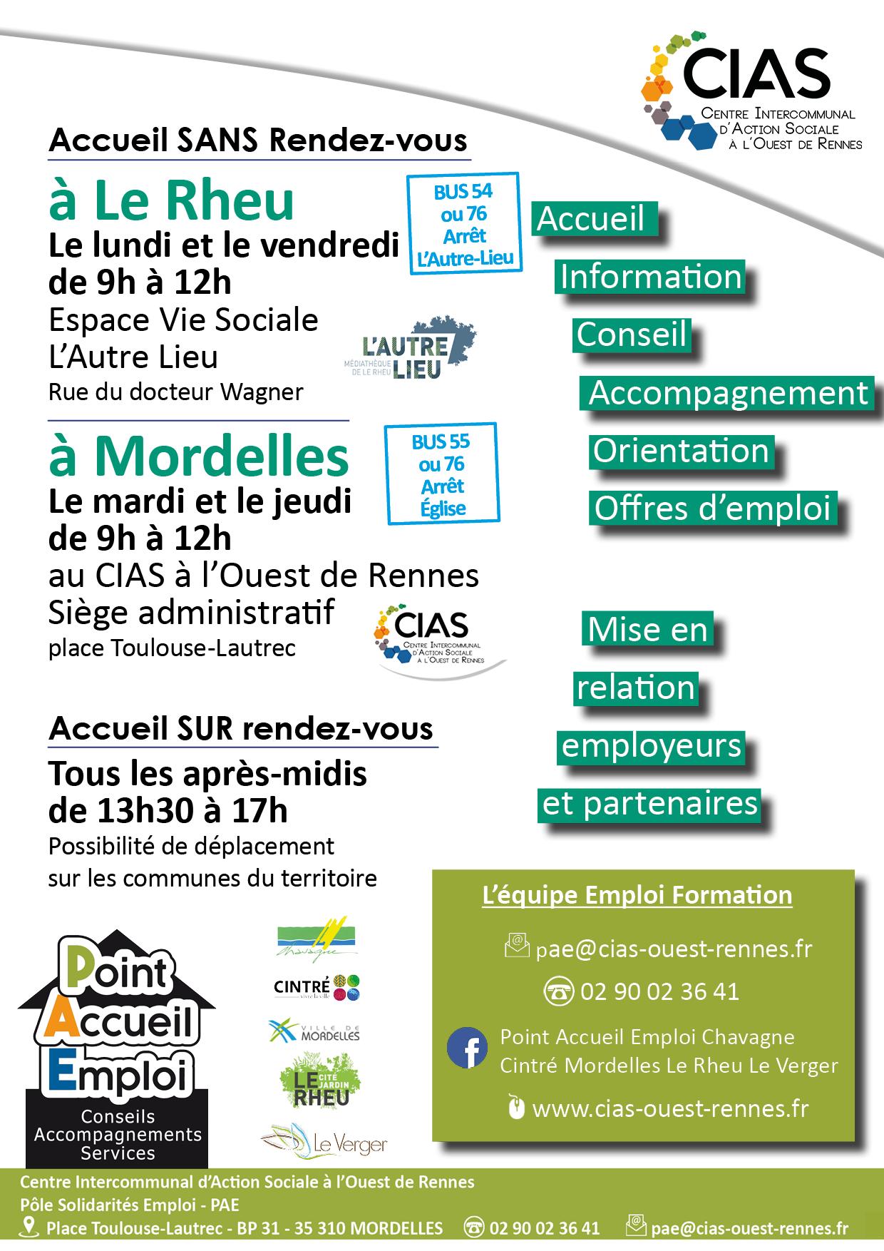 Permanence du PAE du CIAS Ouest Rennes