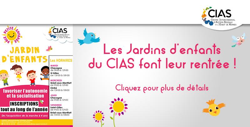 Jardins d'enfants CIAS à l'Ouest de Rennes rentrée 2020