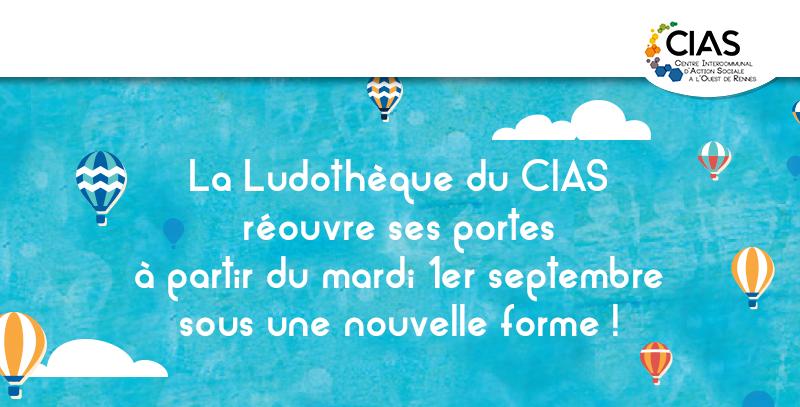 Ludothèque du CIAS à l'Ouest de Rennes rentrée 2020