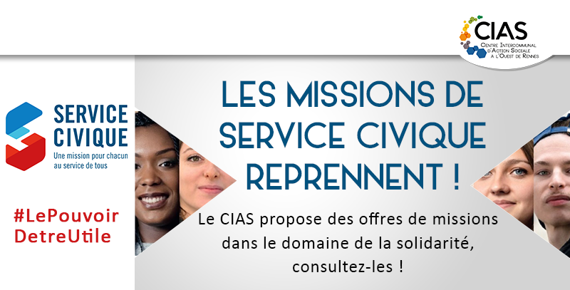 Mission de service civique CIAS à l'Ouest de Rennes recrutement solidarité