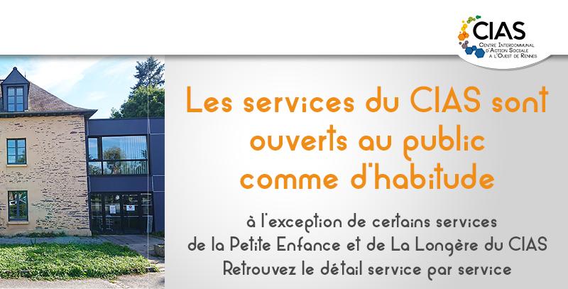 Les services du CIAS restent ouverts comme habituellement