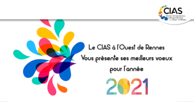 Le CIAS à l'Ouest de Rennes vous souhaite  une très bonne année 2021!