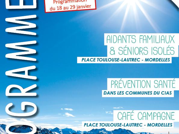 Programme du 18 au 29 janvier 2021 La Longere du CIAS