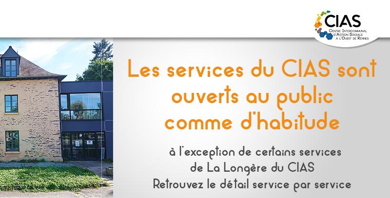 Les services du CIAS restent ouverts comme habituellement, actualisé au 26 avril