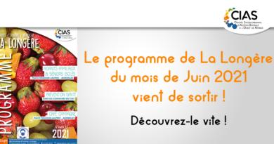 Programme du mois de juin 2021 de la Longère du CIAS