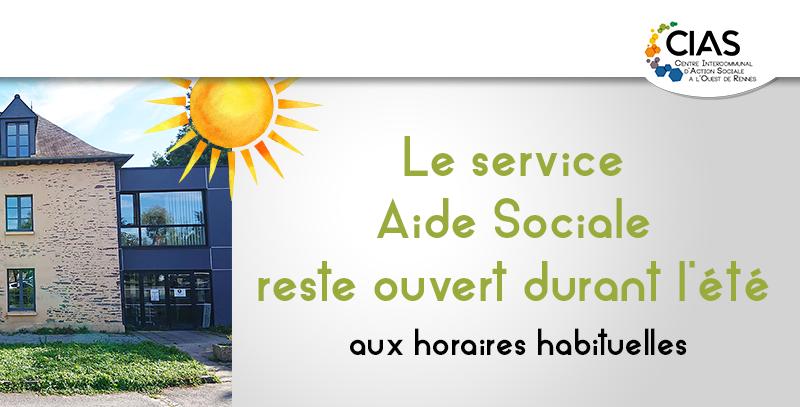 Le service Aide Sociale reste ouvert durant la période estivale