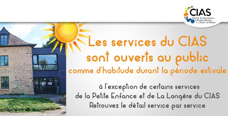 Les services du CIAS restent ouverts comme habituellement, actualisé au 1er juillet