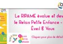 Le Ripame devient le Relais Petite Enfance – RPE