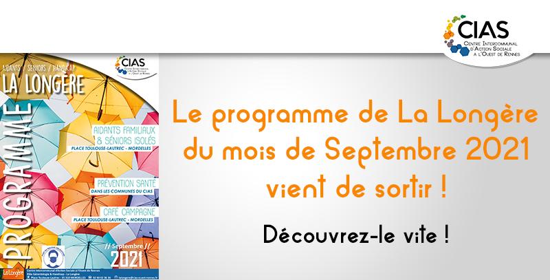 Programme de Septembre de la Longère du CIAS
